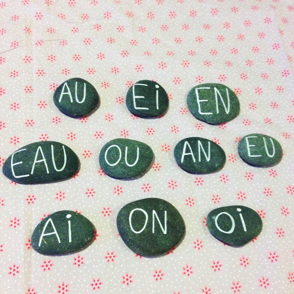 alphabets galets