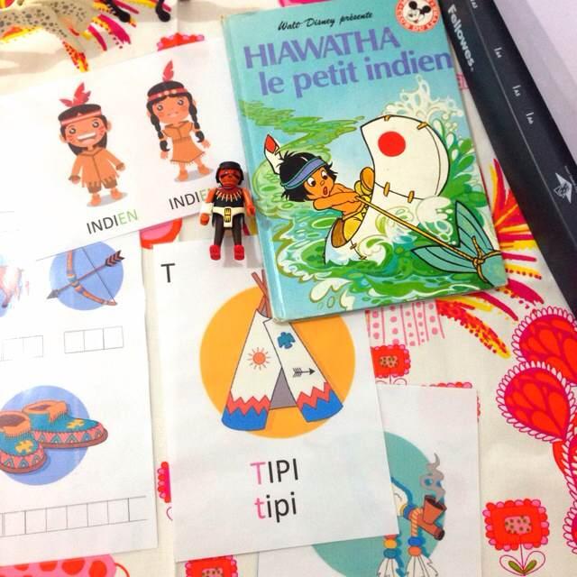 fiches montessori indiens d'amérique