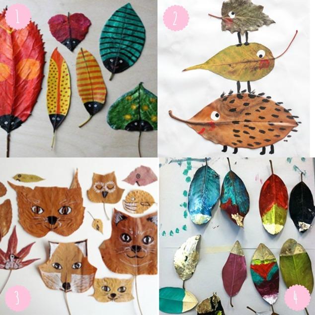 peinture sur feuilles automne okaasan