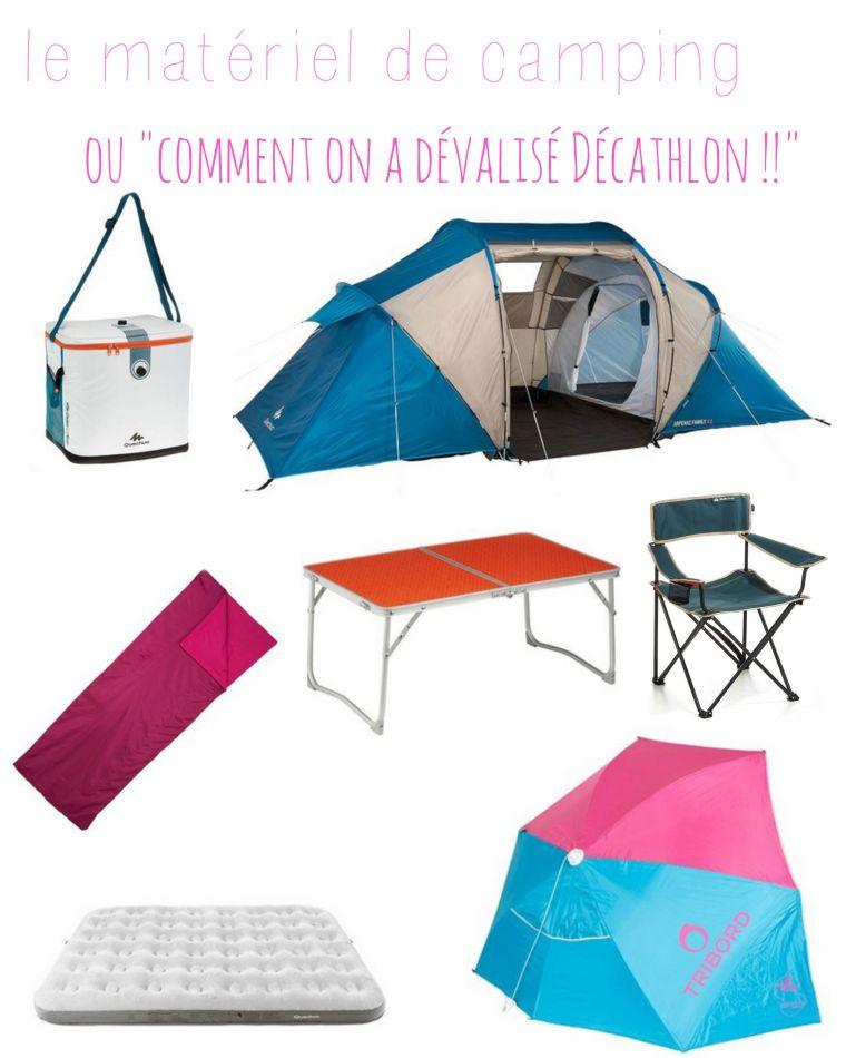 matériel de camping en famille